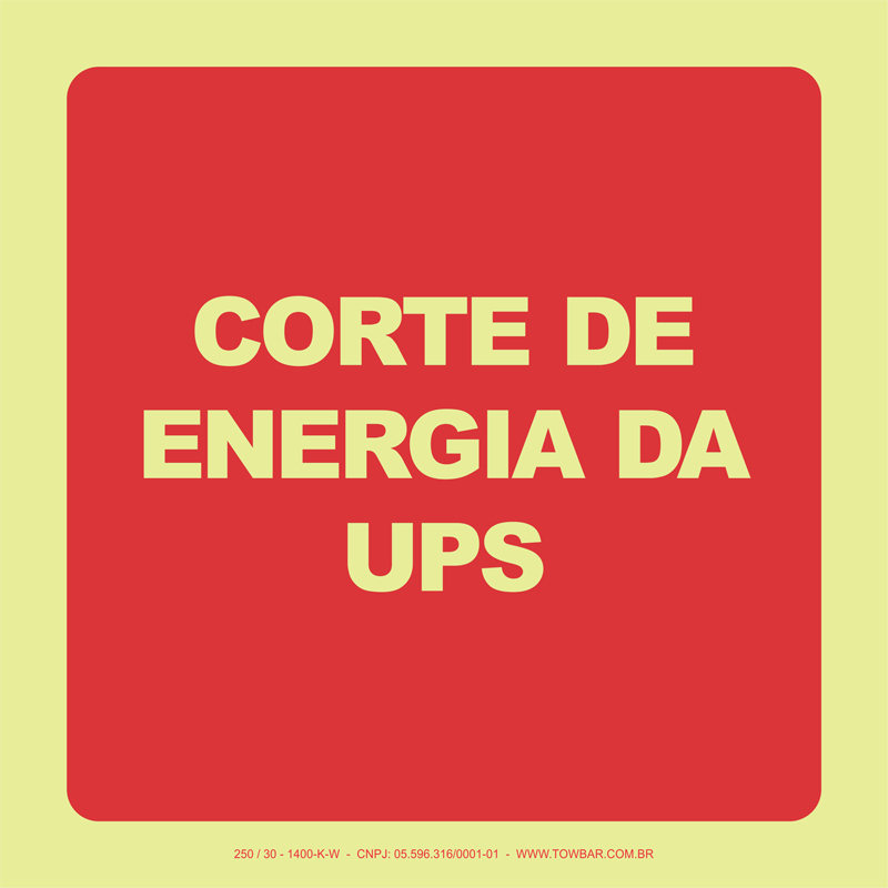 Corte de Energia da UPS  - Towbar Sinalização de Segurança
