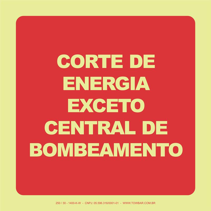 Corte de Energia Exceto Central de Bombeamento  - Towbar Sinalização de Segurança