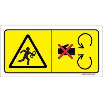 Cuidado Ao Manusear - Risco de Acidente  - Towbar Sinalização de Segurança