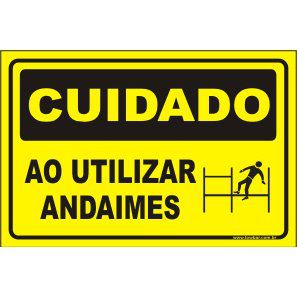 Cuidado Ao Utilizar Andaimes  - Towbar Sinalização de Segurança