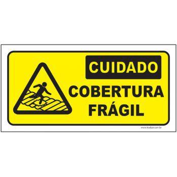 Cuidado cobertura frágil  - Towbar Sinalização de Segurança