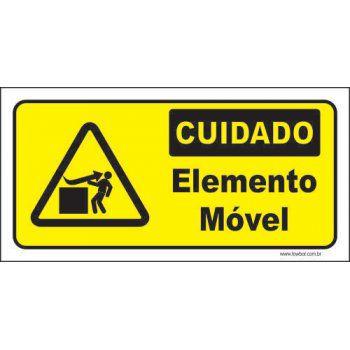 Cuidado elemento móvel  - Towbar Sinalização de Segurança