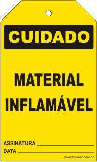 Cuidado - Material inflamável  - Towbar Sinalização de Segurança