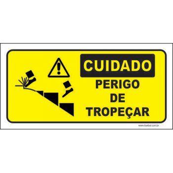 Cuidado perigo de tropeçar  - Towbar Sinalização de Segurança