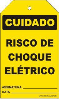 Cuidado - Risco de choque elétrico  - Towbar Sinalização de Segurança