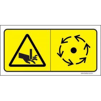 Cuidado Risco de Esmagamento - Serra  - Towbar Sinalização de Segurança