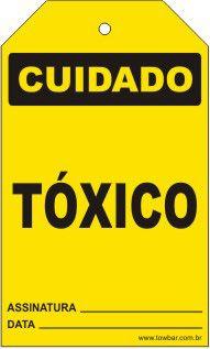 Cuidado - Tóxico  - Towbar Sinalização de Segurança