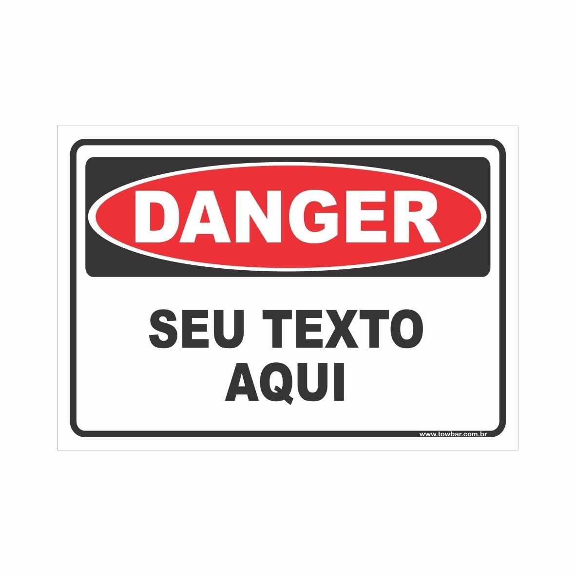 Danger  - Towbar Sinalização de Segurança