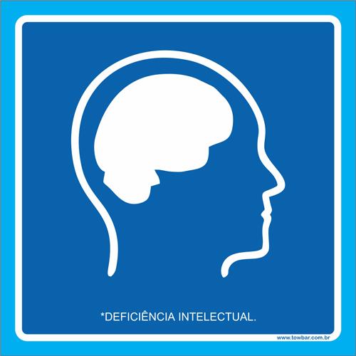 Placa deficiência intelectual   - Towbar Sinalização de Segurança