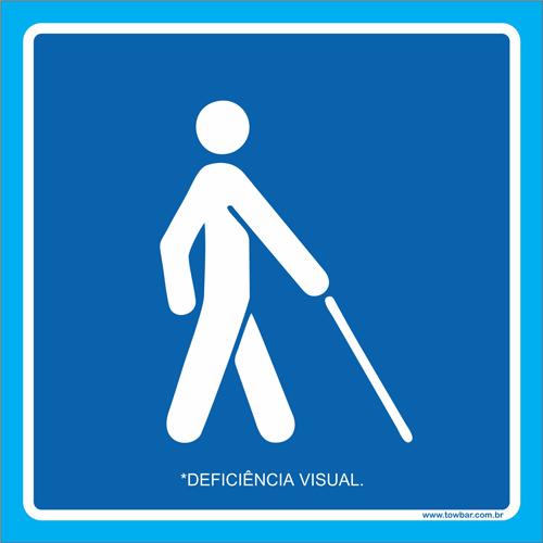 Placa deficiência visual  - Towbar Sinalização de Segurança