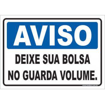 Deixe Sua Bolsa No Guarda Volume  - Towbar Sinalização de Segurança
