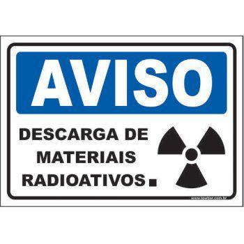 Descarga de Materiais Radioativos  - Towbar Sinalização de Segurança
