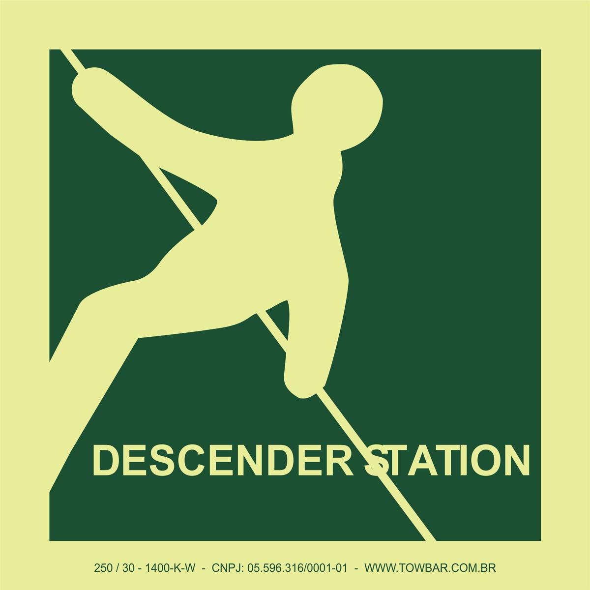 Descender Station  - Towbar Sinalização de Segurança