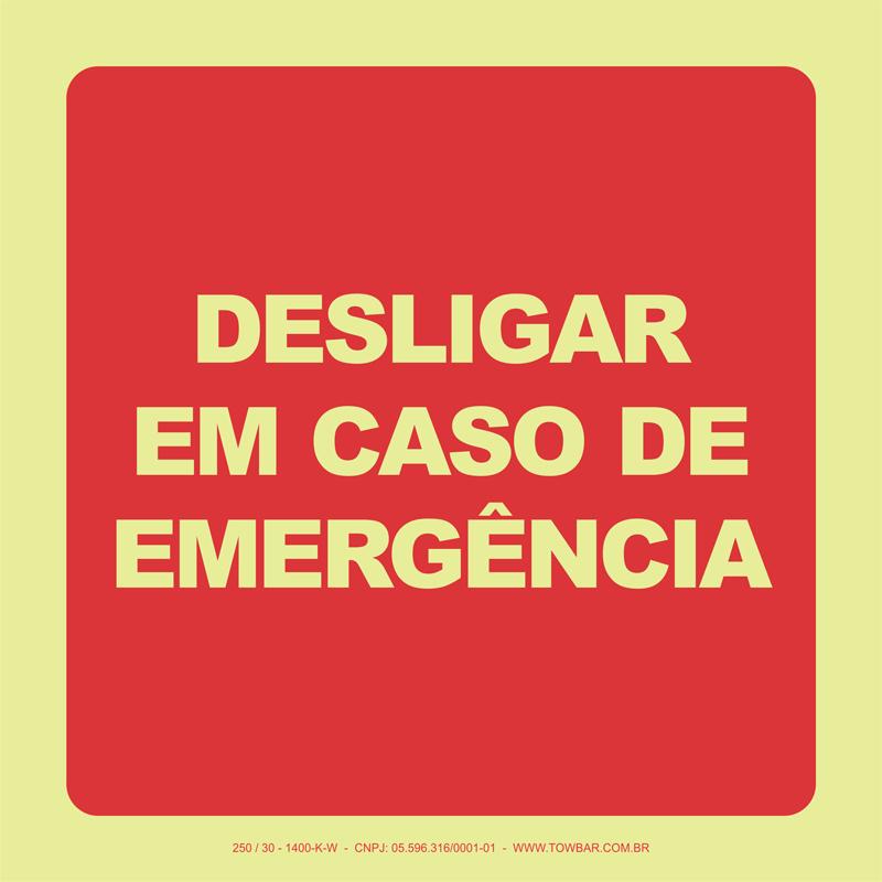 Desligar em Caso de Emergência   - Towbar Sinalização de Segurança