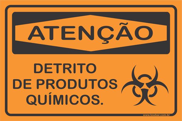 Detrito de Produtos Químicos  - Towbar Sinalização de Segurança