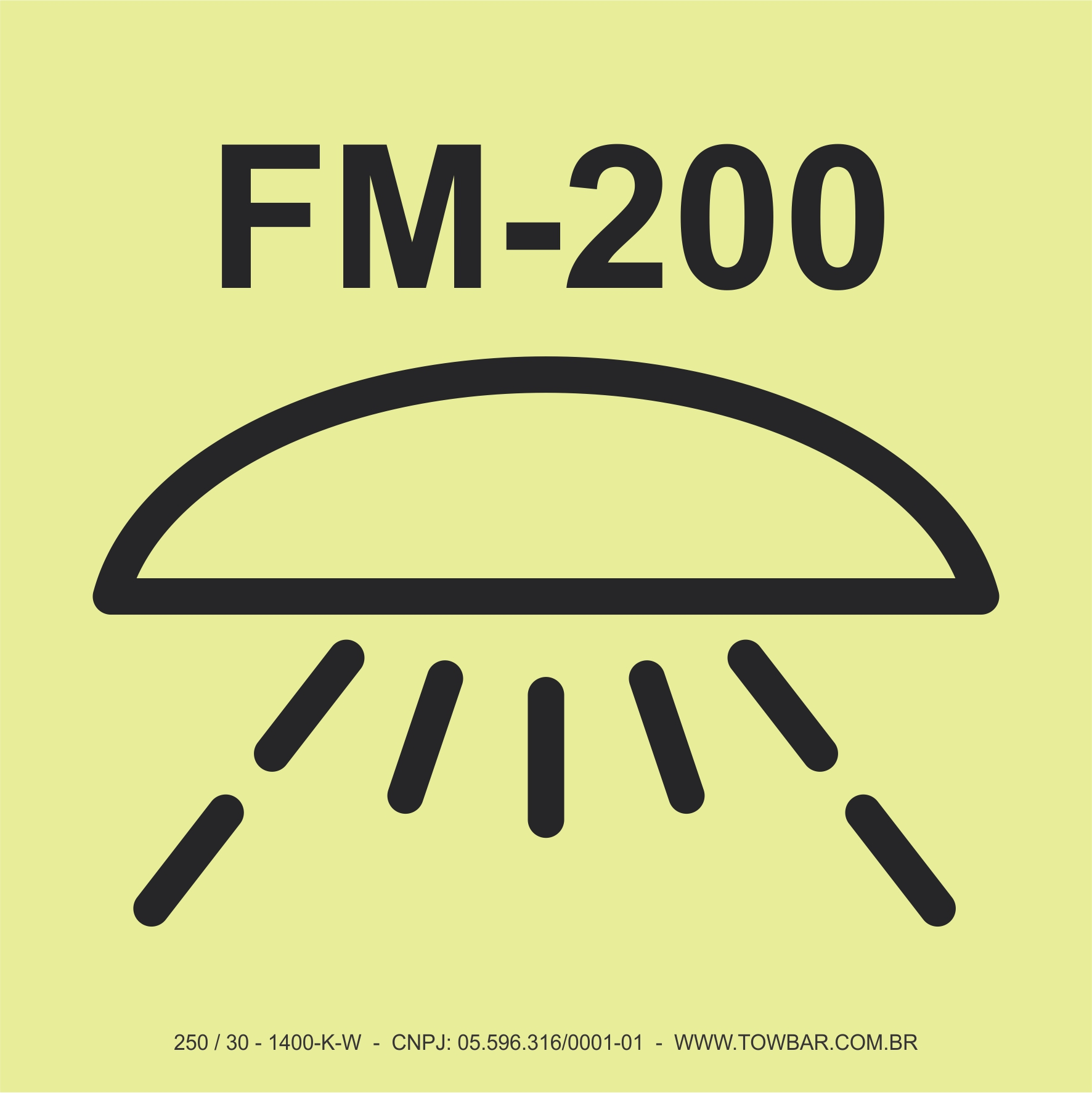 Difusor do Sistema FM 200  - Towbar Sinalização de Segurança
