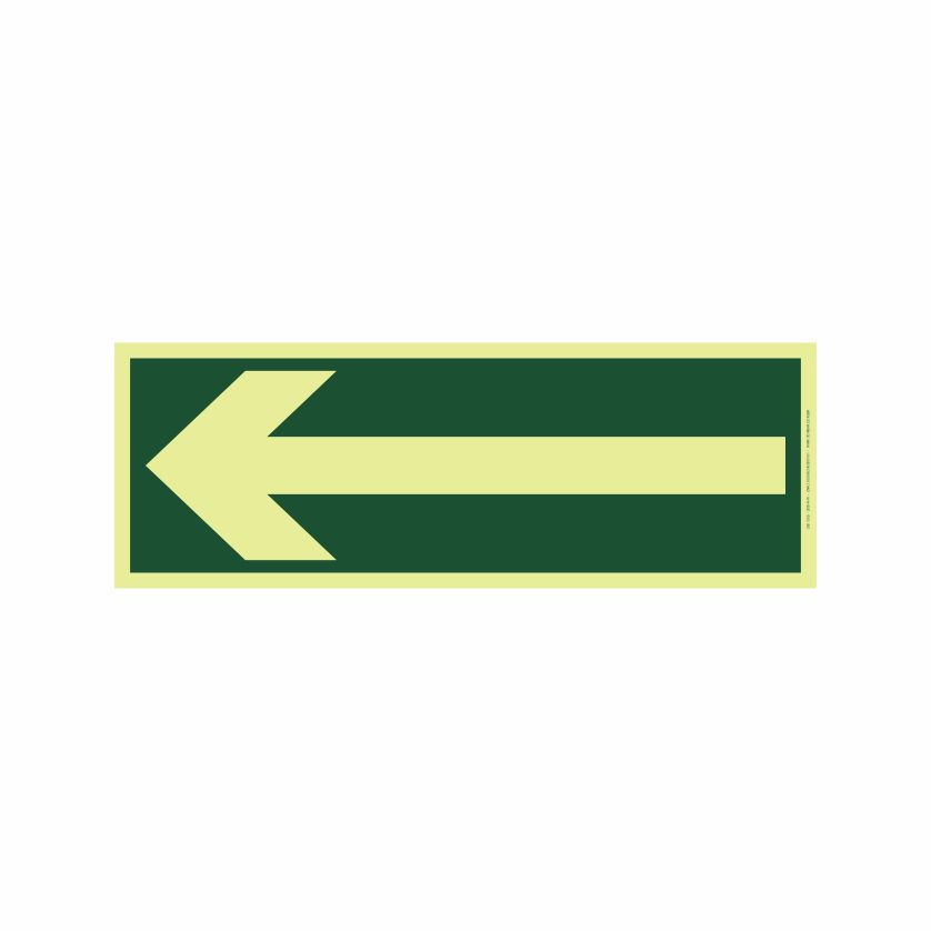 Direção da Rota de Saída  - Towbar Sinalização de Segurança