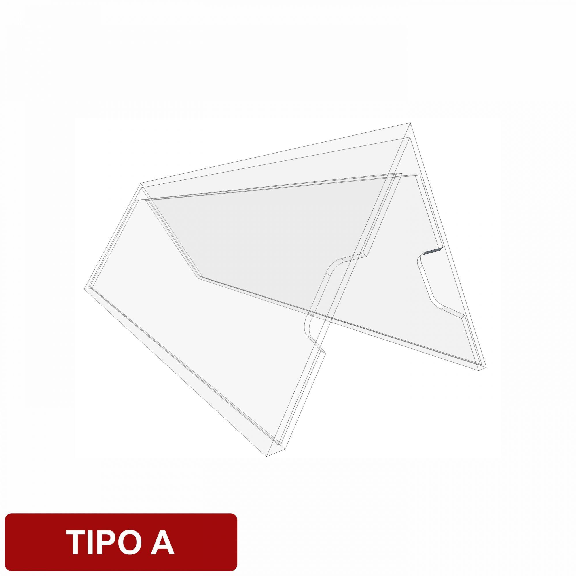 Display de mesa tipo A em acrílico  - Towbar Sinalização de Segurança