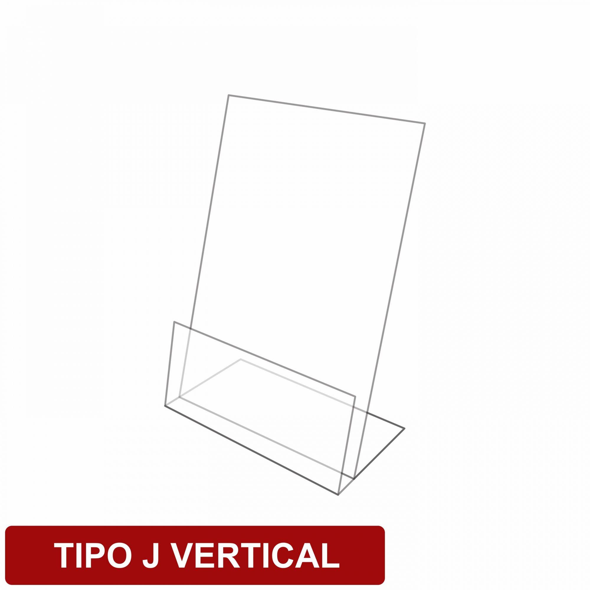 Display de mesa tipo J em acrílico   - Towbar Sinalização de Segurança