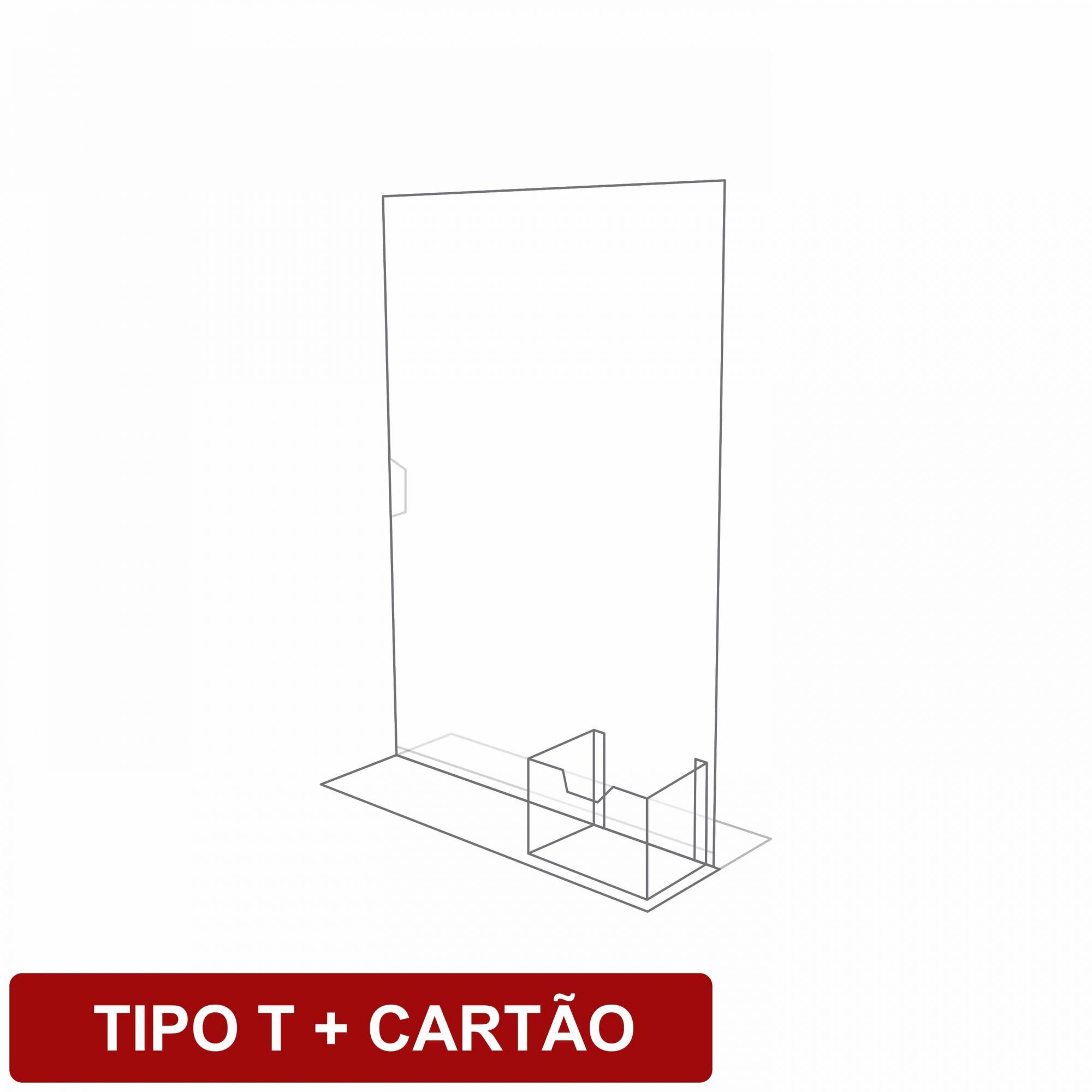 Display de mesa tipo T + cartão em acrílico   - Towbar Sinalização de Segurança