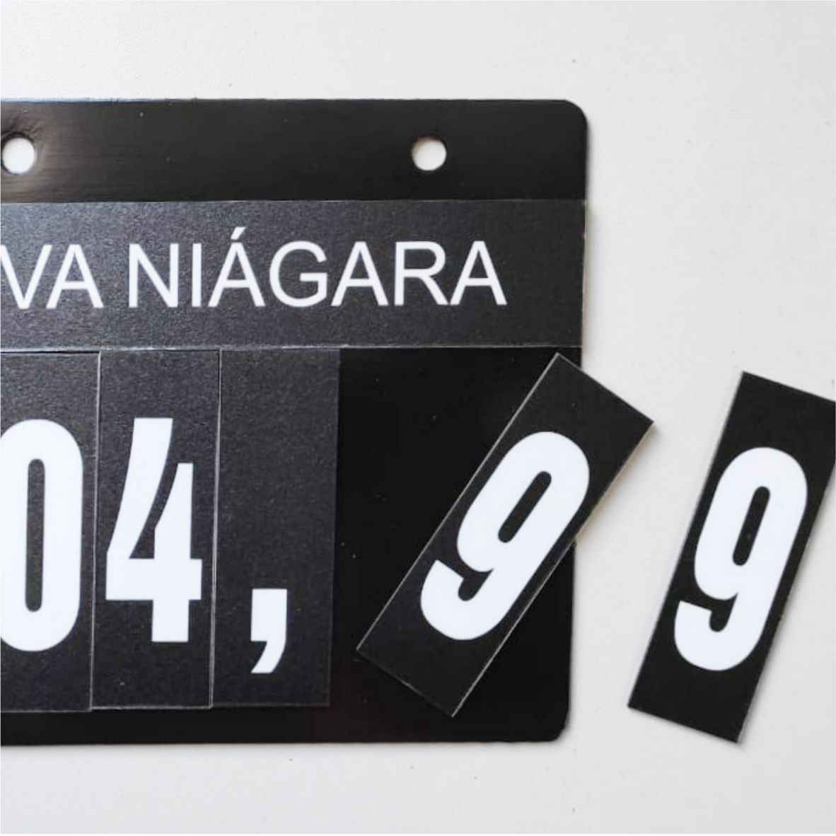 Display de Preço Hortifruti   - Towbar Sinalização de Segurança