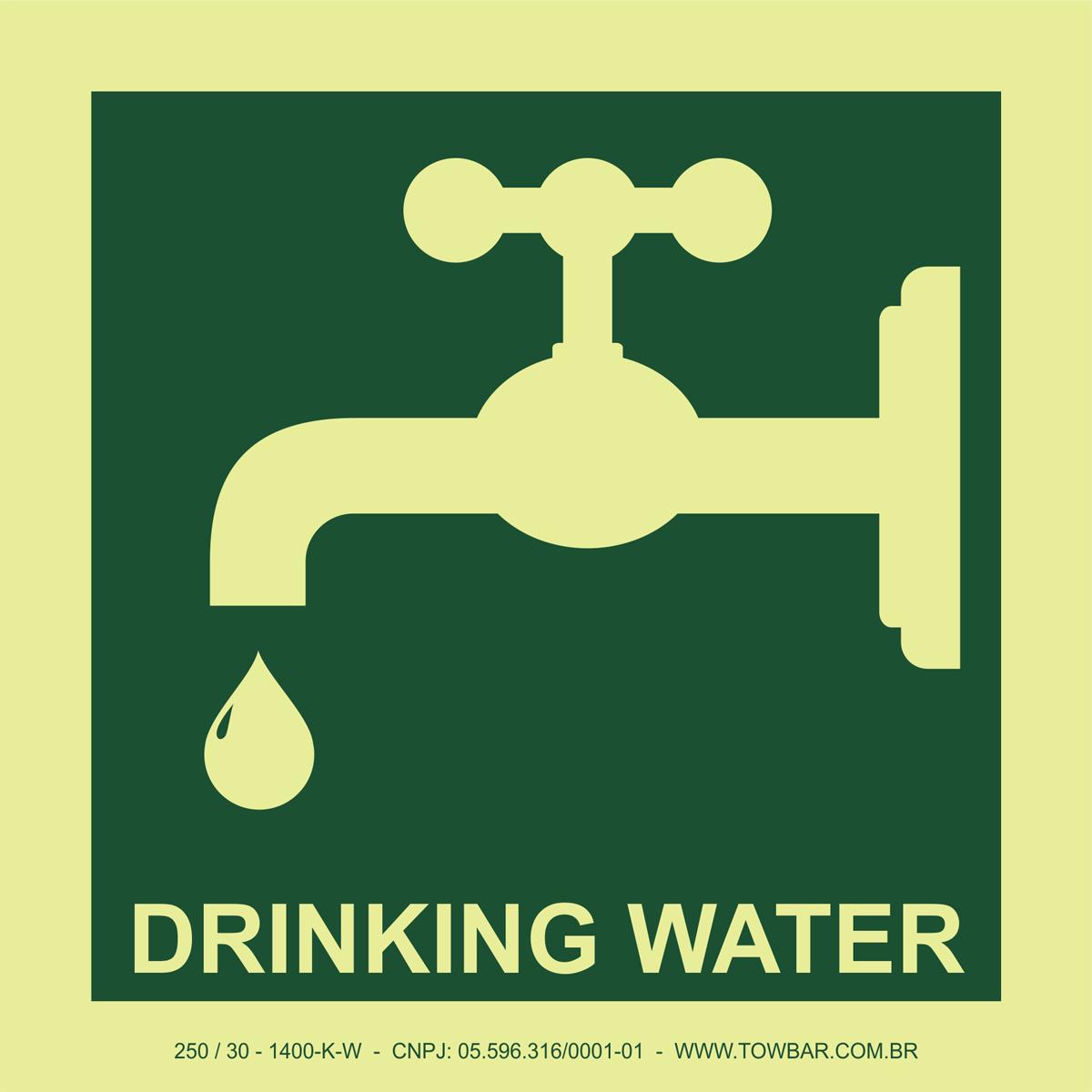 Drinking Water  - Towbar Sinalização de Segurança
