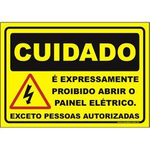 é Expressamente Proibido Abrir o Painel elétrico  - Towbar Sinalização de Segurança
