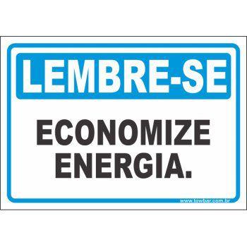Economize energia  - Towbar Sinalização de Segurança