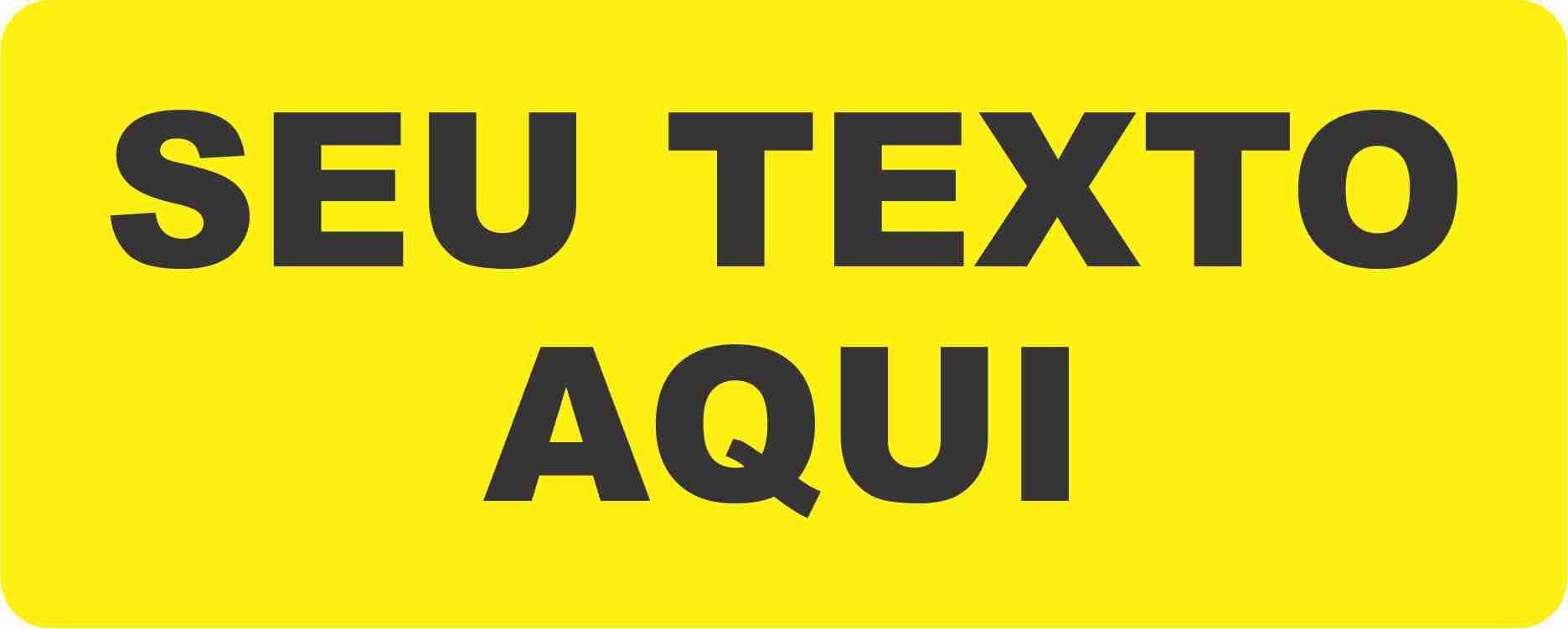 Eletricidade - Seu texto personalizado  - Towbar Sinalização de Segurança
