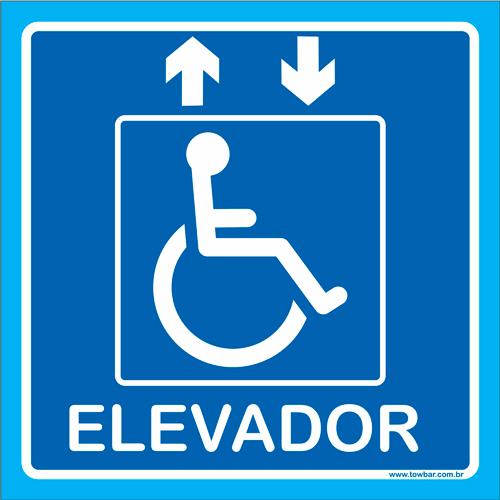Placa elevador Cadeirante  - Towbar Sinalização de Segurança