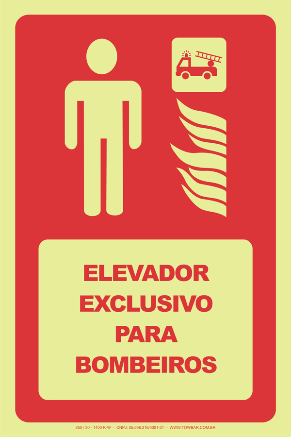 Elevador Exclusivo para Bombeiros  - Towbar Sinalização de Segurança