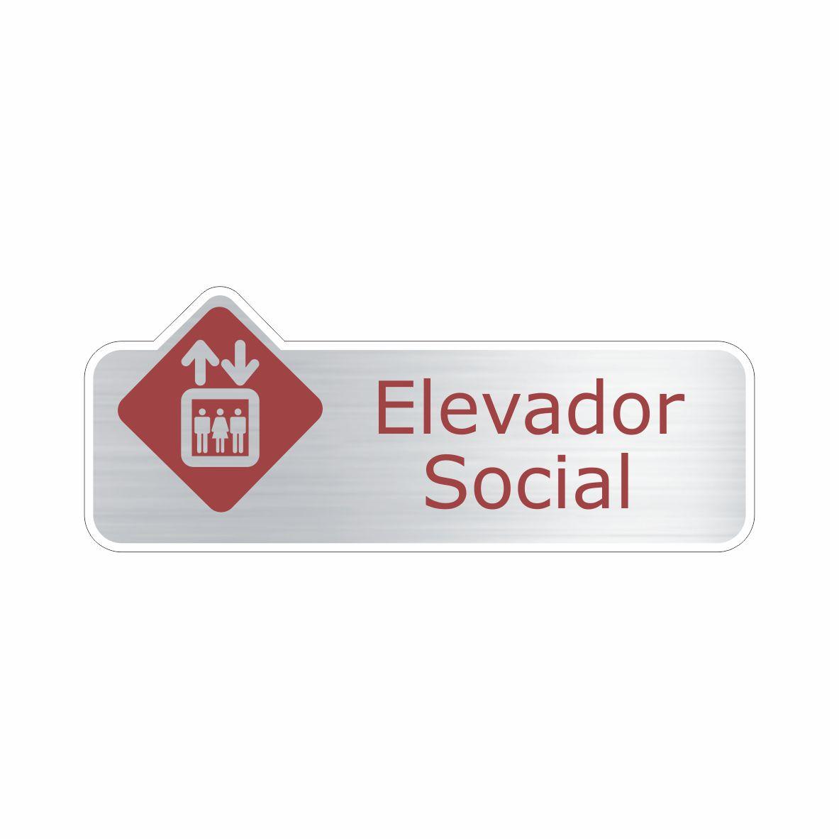 Elevador social  - Towbar Sinalização de Segurança