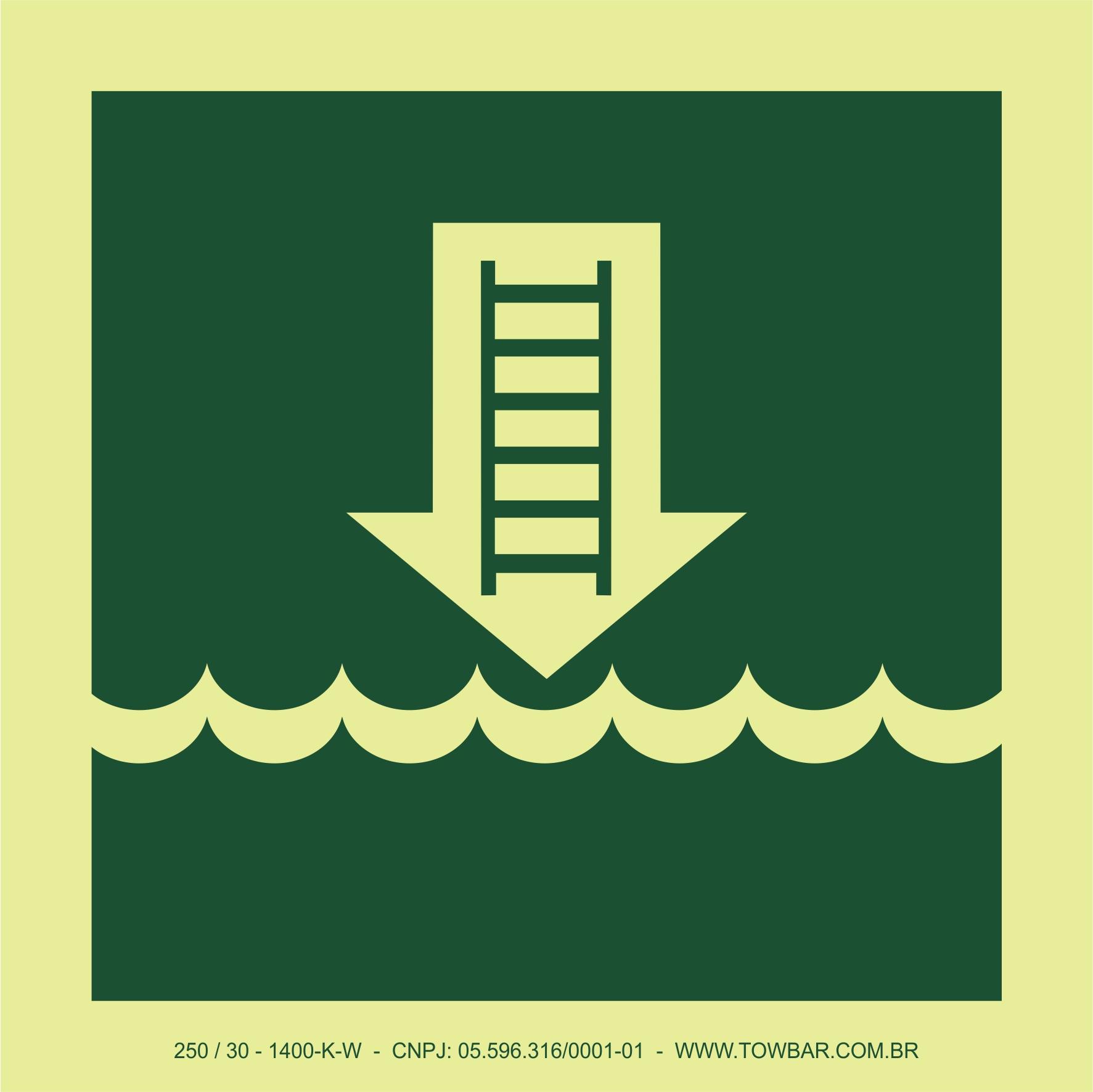 Embarkation Ladder  - Towbar Sinalização de Segurança