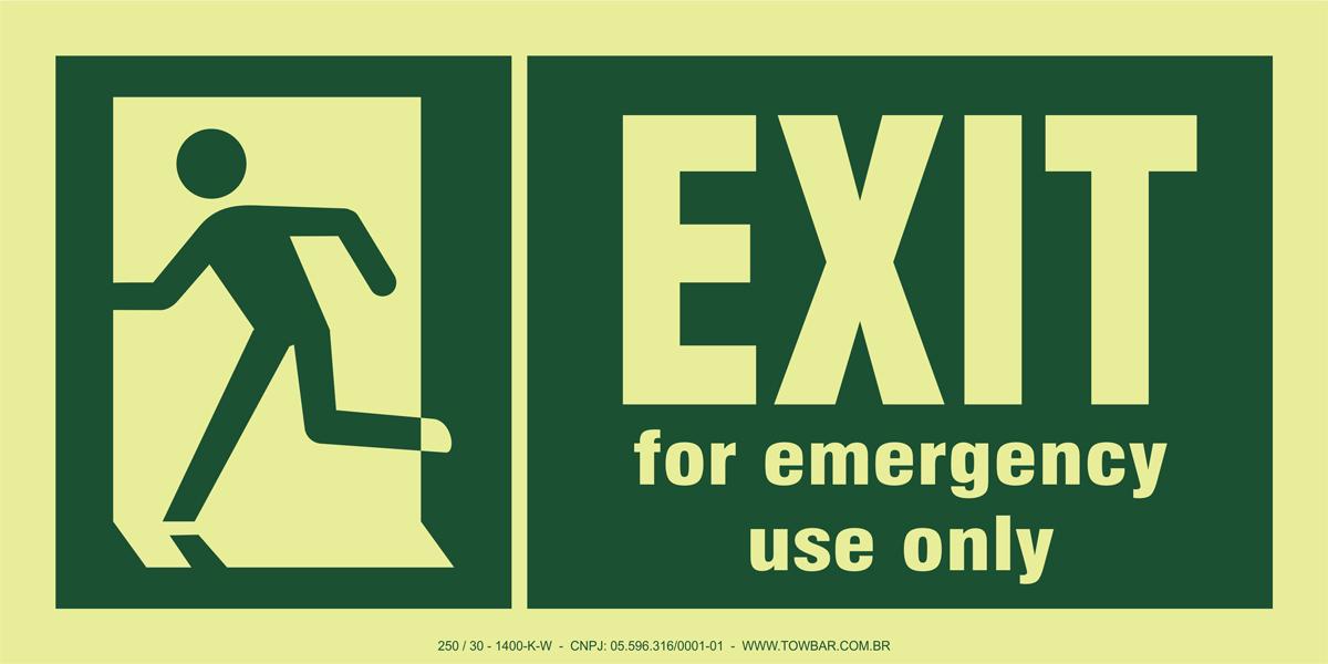 Emergency Exit/run Man Left  - Towbar Sinalização de Segurança