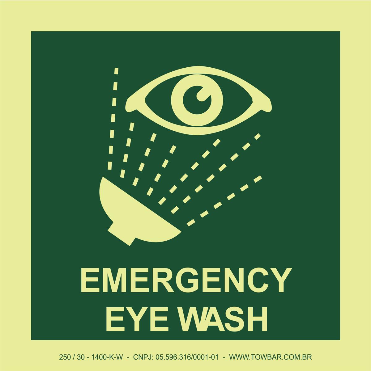 Emergency Eye Wash  - Towbar Sinalização de Segurança