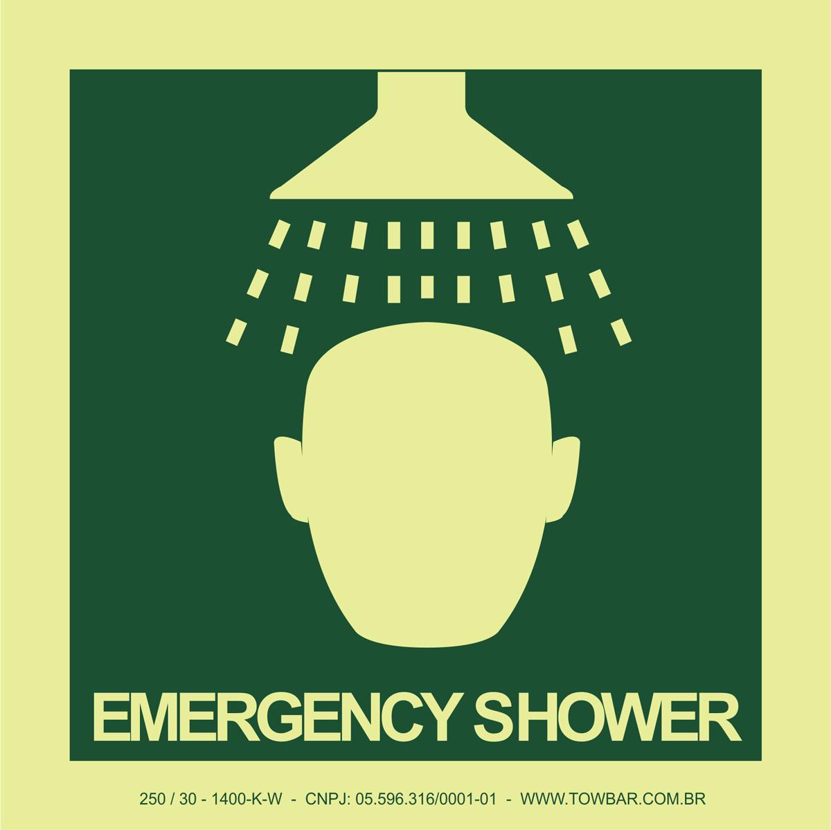 Emergency Shower  - Towbar Sinalização de Segurança