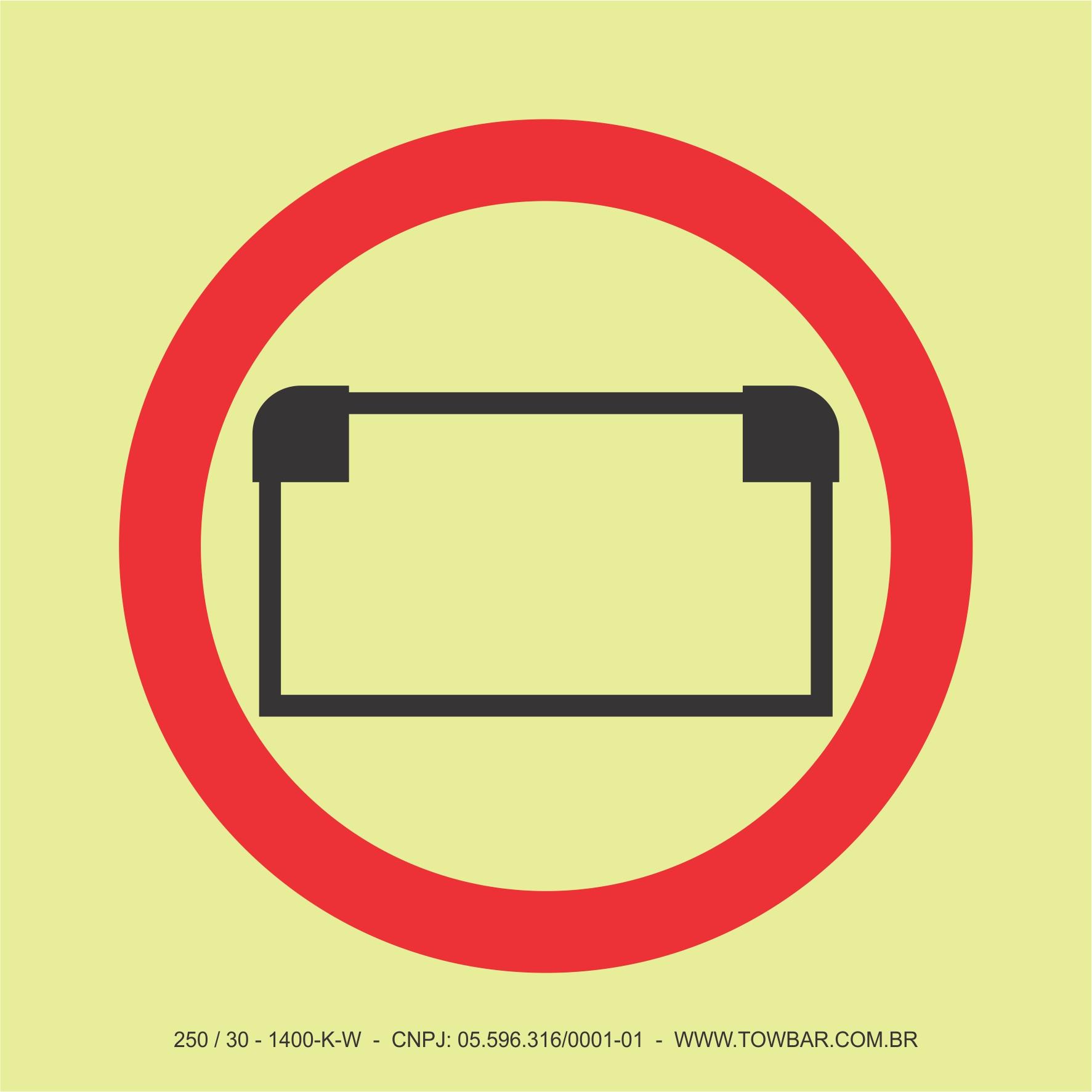 Gerador de Emergência de Energia Elétrica (bateria) (Emergency Source of Electrical Power (Battery))  - Towbar Sinalização de Segurança