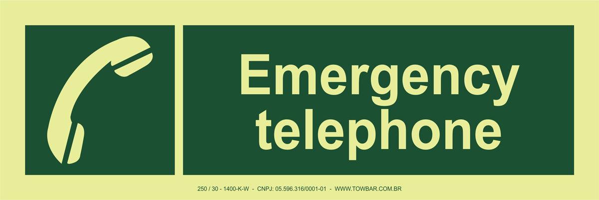 Emergency Telephone  - Towbar Sinalização de Segurança