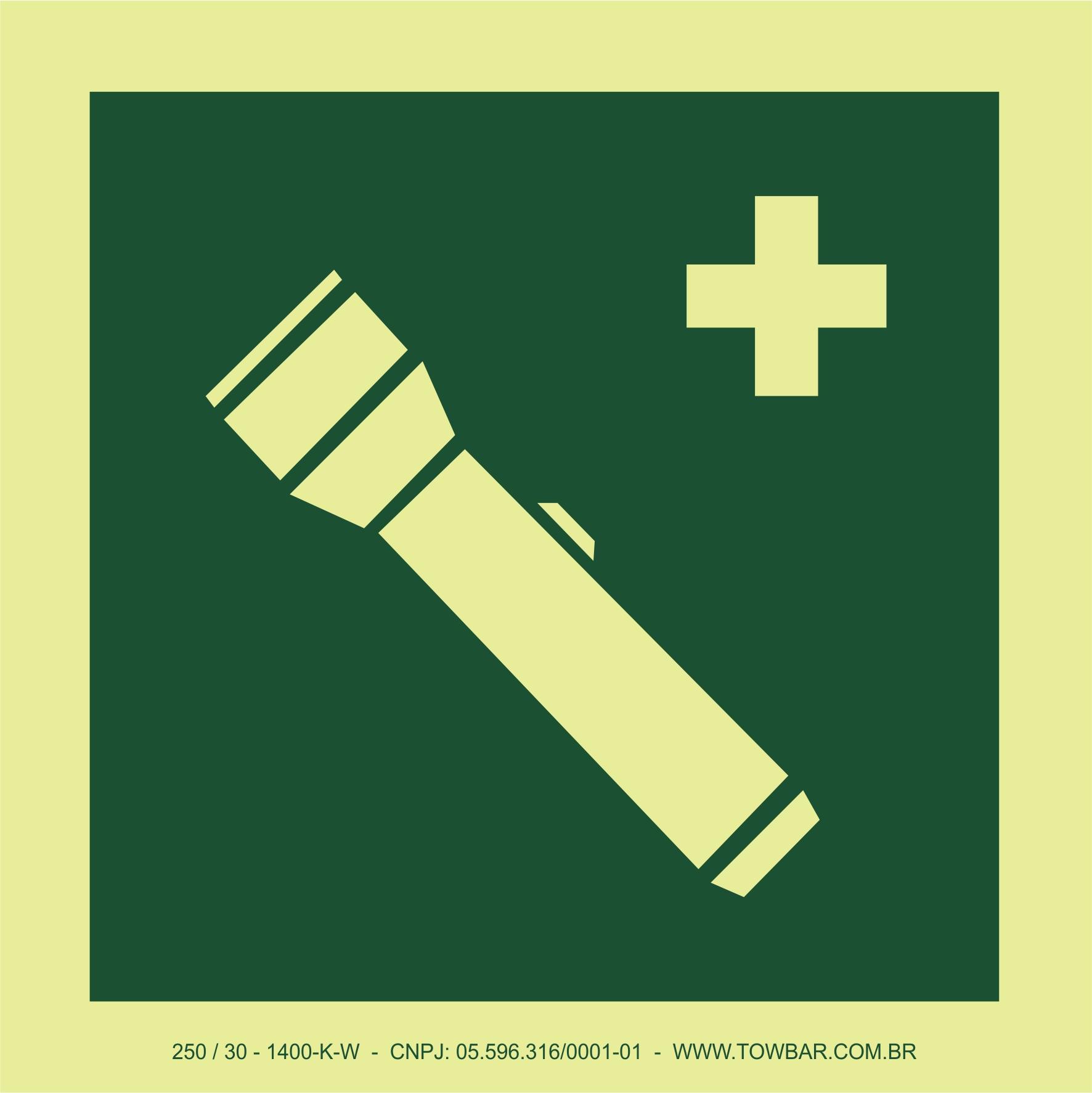 Lanterna de emergência (Emergency torch)  - Towbar Sinalização de Segurança