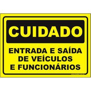 Entrada e Saída de Veículos e Funcionários  - Towbar Sinalização de Segurança
