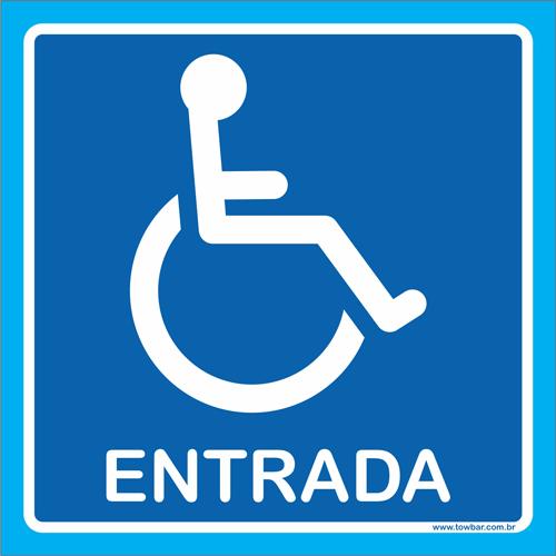 Placa entrada para cadeirante   - Towbar Sinalização de Segurança