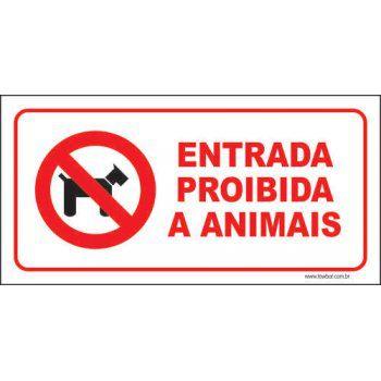 Entrada proibida a animais  - Towbar Sinalização de Segurança