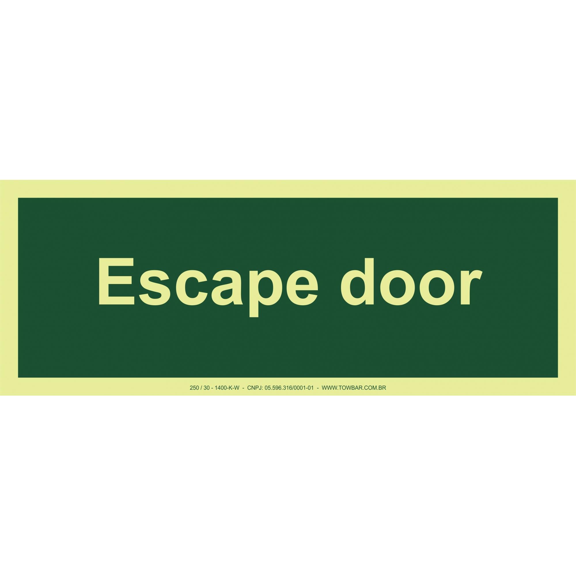 Escape Door  - Towbar Sinalização de Segurança