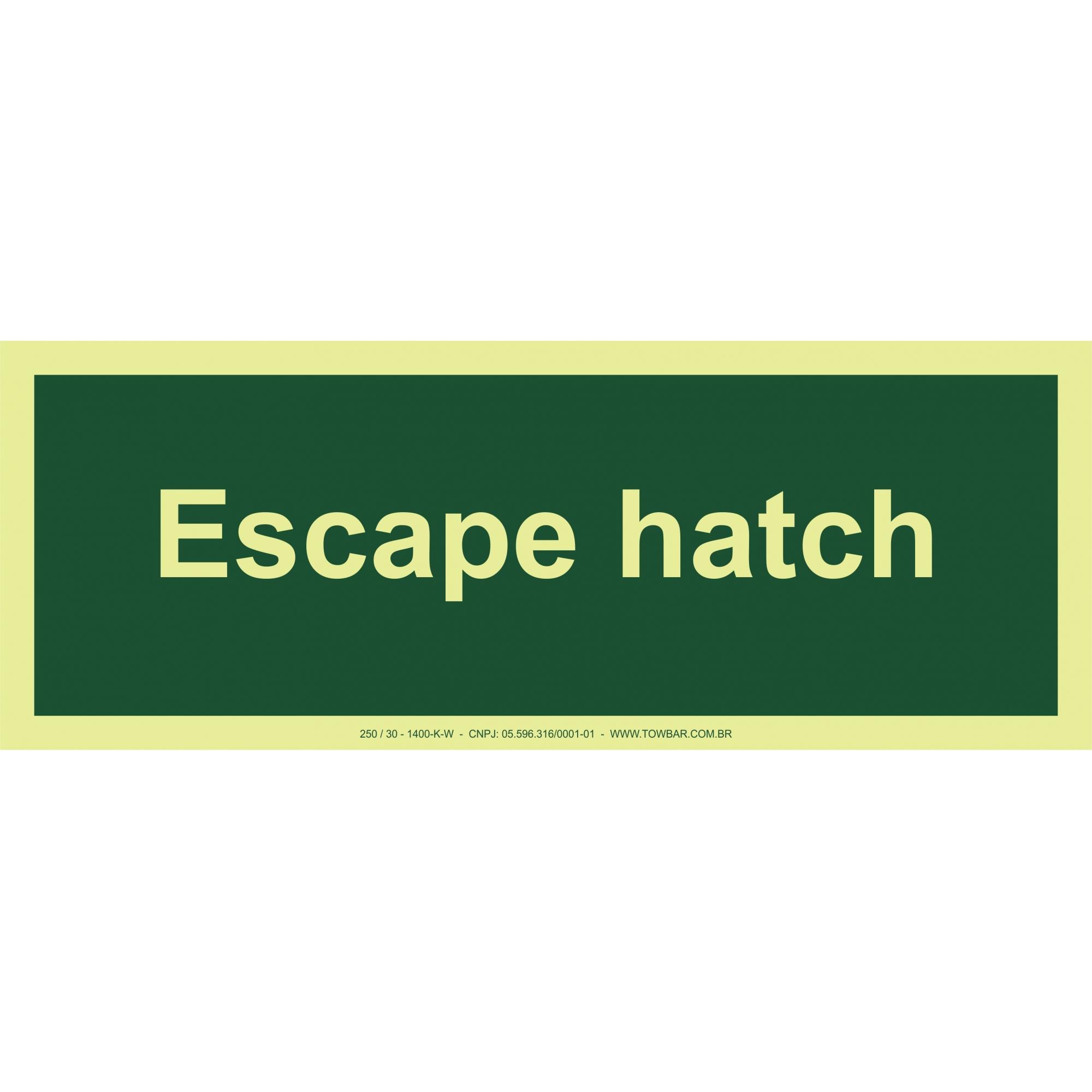 Escape Hatch  - Towbar Sinalização de Segurança
