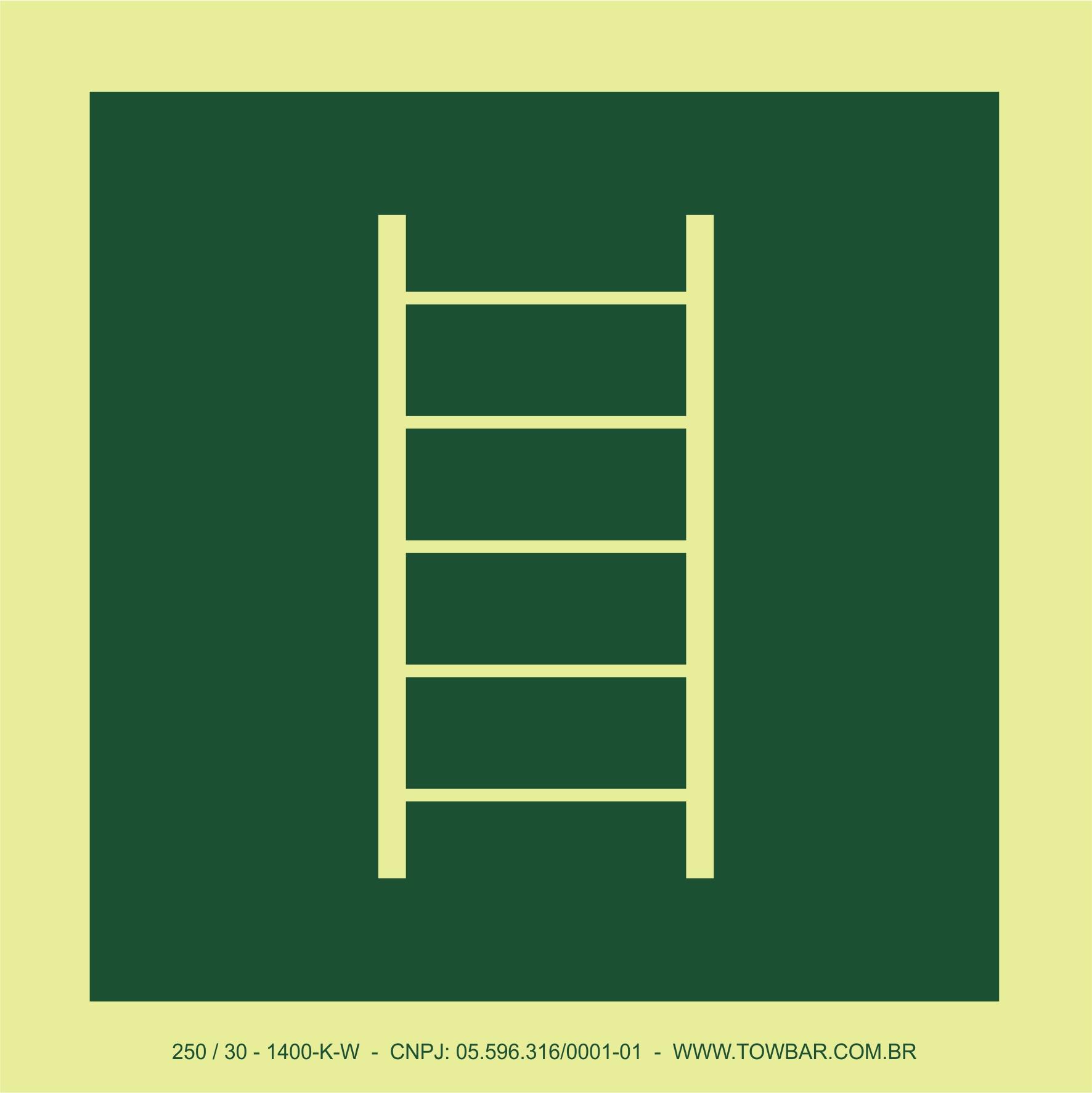 Escada de emergência (Escape ladder)  - Towbar Sinalização de Segurança