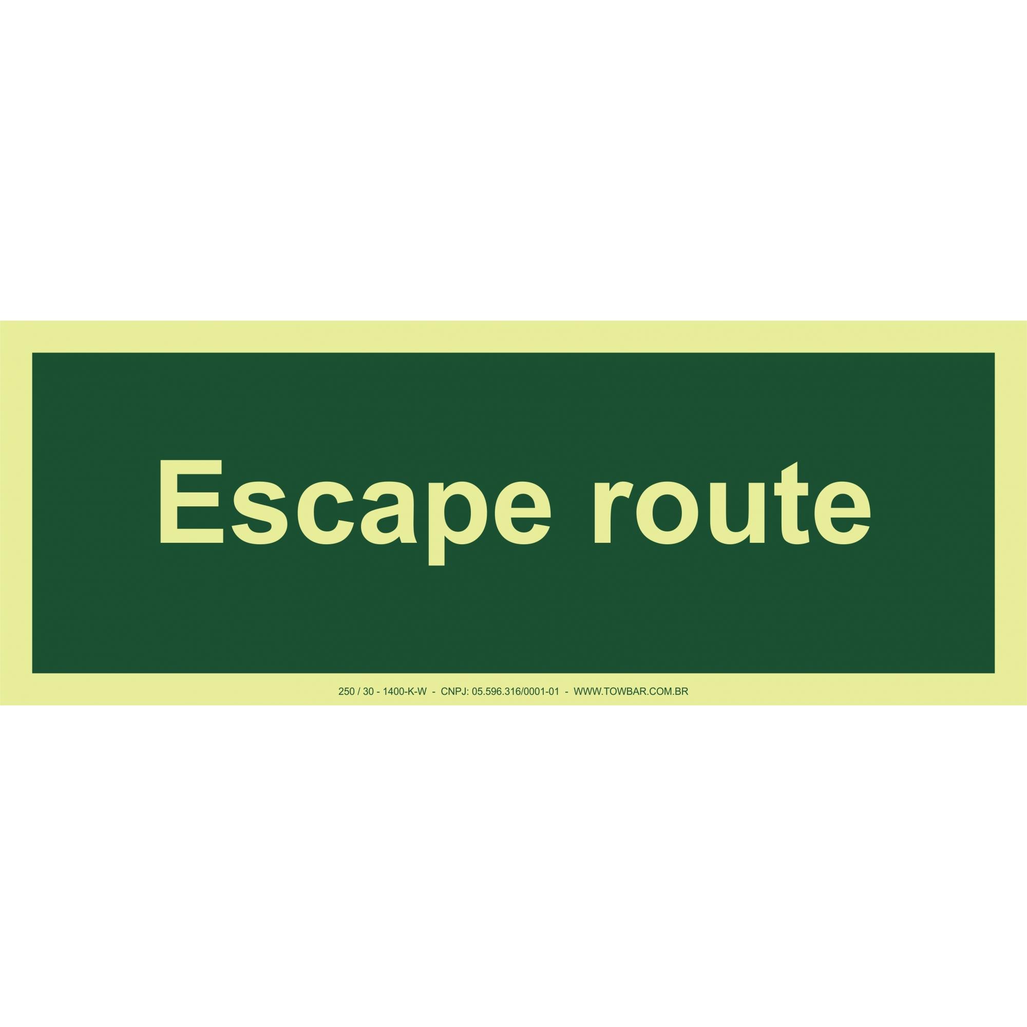 Escape Route  - Towbar Sinalização de Segurança