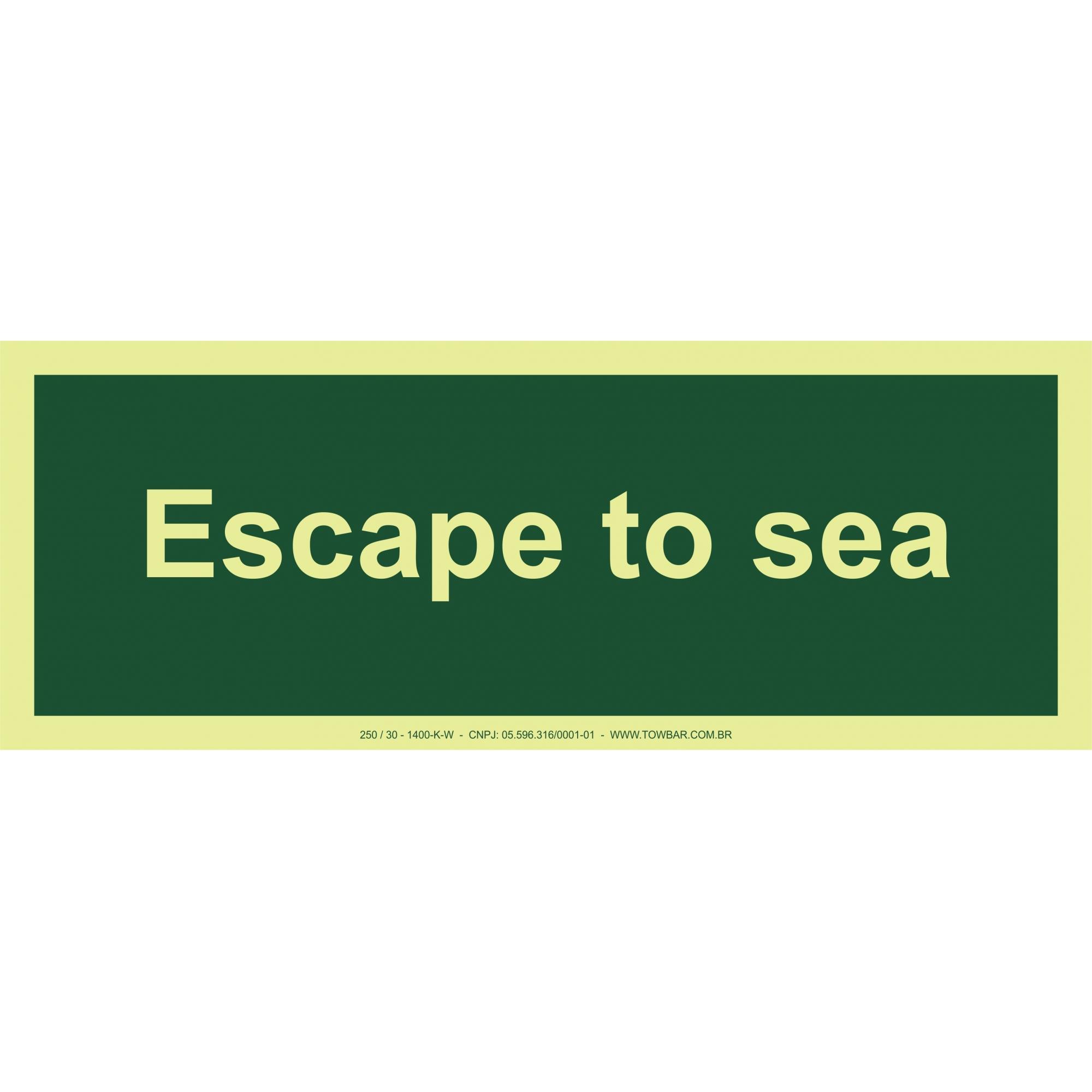 Escape to Sea  - Towbar Sinalização de Segurança