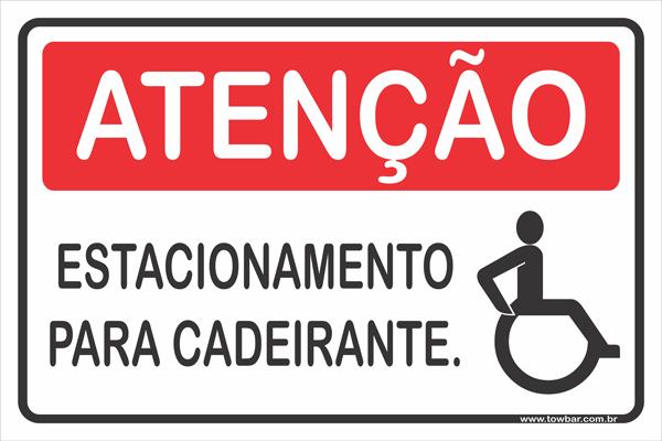 Estacionamento Para Deficientes  - Towbar Sinalização de Segurança