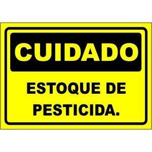 Estoque de Pesticida  - Towbar Sinalização de Segurança