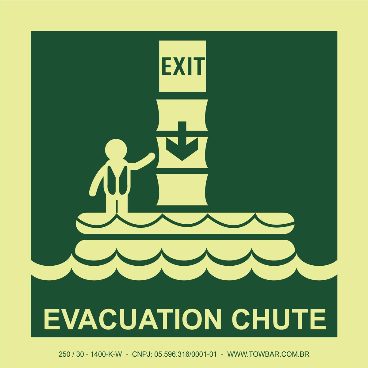 Evacuation Chute  - Towbar Sinalização de Segurança